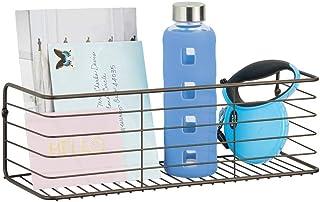 mDesign serviteur de douche pour salle de bain, cuisine, couloir ou évier – étagère murale large en fil de fer – meuble de...