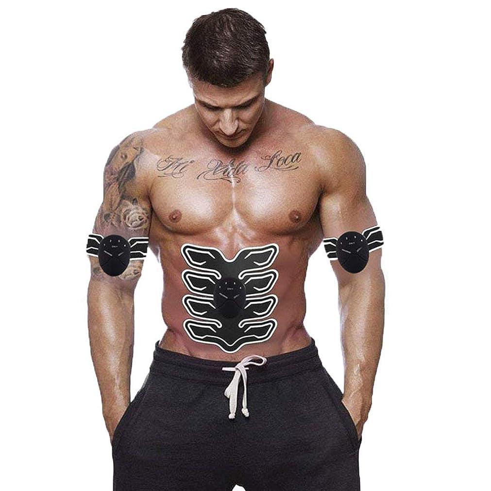 盟主本質的ではない狂人筋肉トナー腹部調色ベルトポータブル USB 充電式ワイヤレス EMS マッサージ腹部アームレッグトレーニングのためのフィットネス機器