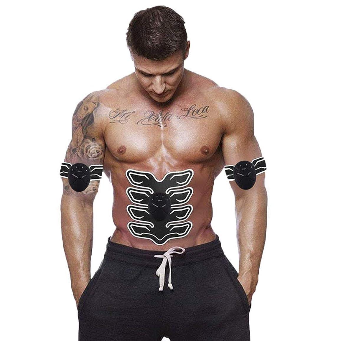 後ろにふりをする消化筋肉トナー腹部調色ベルトポータブル USB 充電式ワイヤレス EMS マッサージ腹部アームレッグトレーニングのためのフィットネス機器