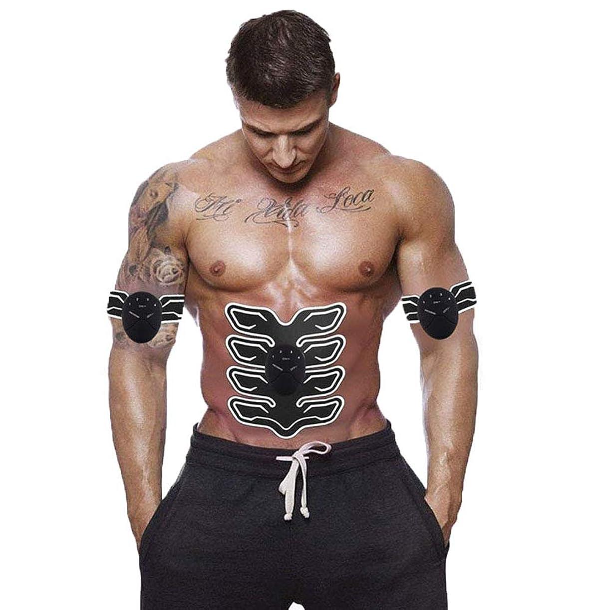 まさに黒人技術的な筋肉トナー腹部調色ベルトポータブル USB 充電式ワイヤレス EMS マッサージ腹部アームレッグトレーニングのためのフィットネス機器