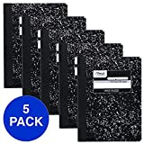 Mead Composition Books, Notebooks, Wide Ruled Paper, 100 Sheets, Comp Book, 5 Pack (72368)...