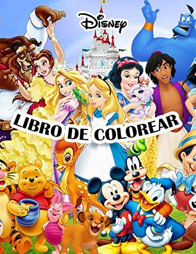 Disney Libro Para Colorear: Increíbles páginas para colorear de Disney para niños:...