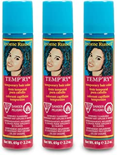 Jerome Russell Temp'ry Spray-on Dark Blonde Hair Color, 2.2oz x 3 pack