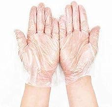 JUNSHUO 500 Stuks Disposable Plastic Handschoenen, Grote Transparent Foodservice PE-handschoenen, Eenmalige Handschoenen v...