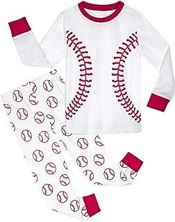 Kids Boys Baseball Pajamas Set Toddler 100% Cotton Pjs