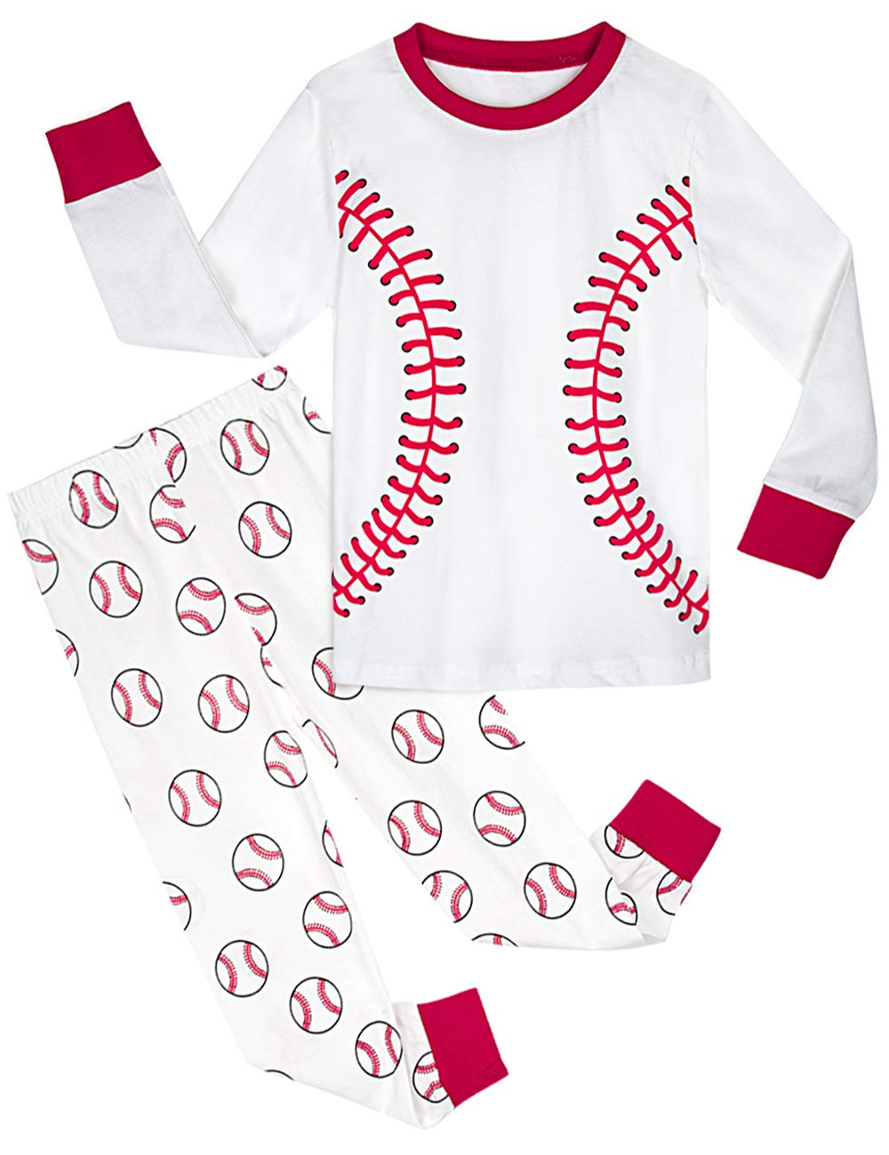 Image of Baseball Pajama Set for Boys
