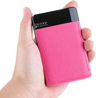Mezone Portable Charger Power Bank 6000mah External Battery Charger with 2.4A Output Credit Card Size for iPhone, 2-USB Ports for iPhone iPad Samsung Smart Phone Tablet (hot-Pink)