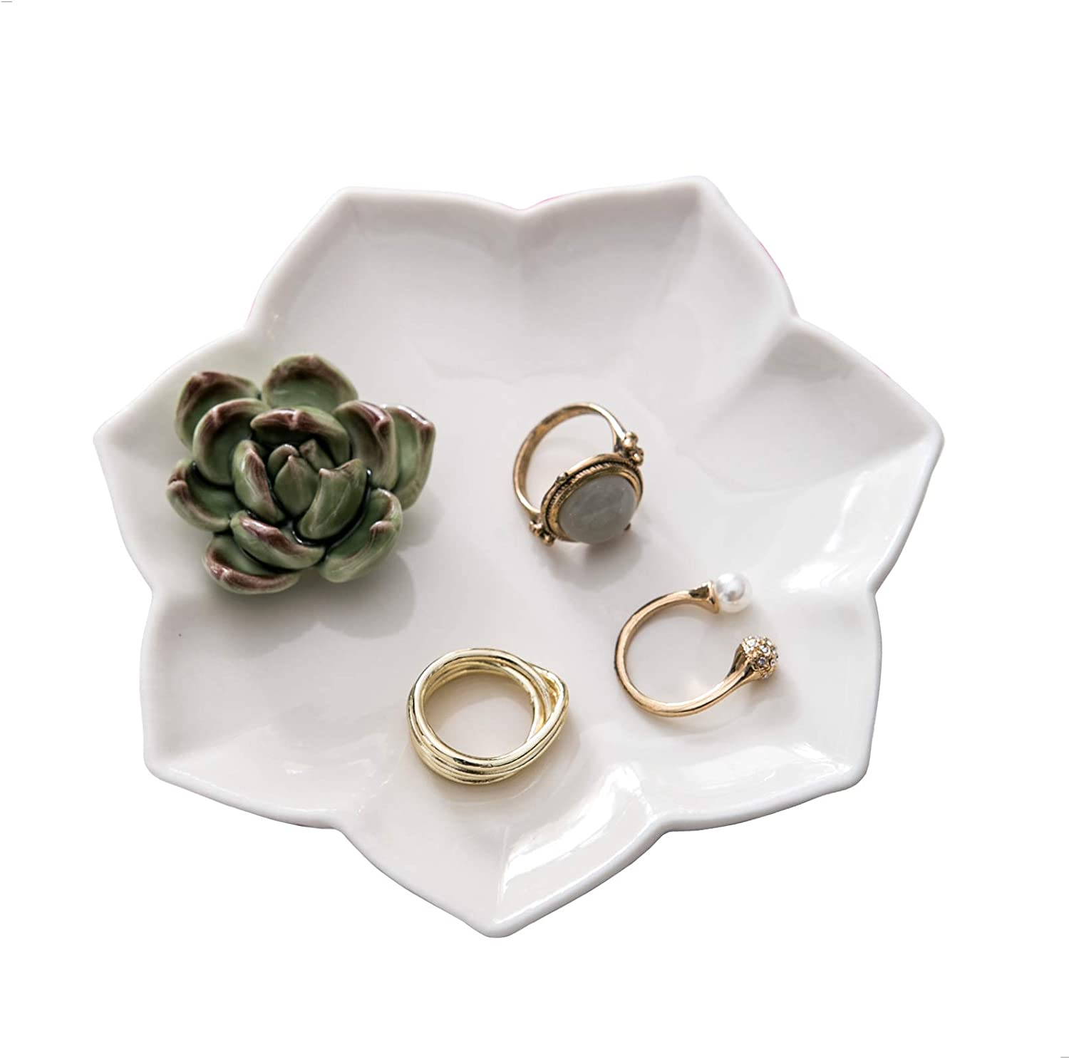 Kimdio Ring Holder Succulents Jewelry Dish Tray Japan's largest assortment Trinket Necklace Deluxe