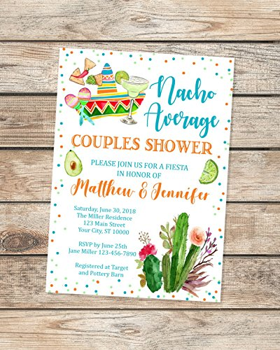2021 new Nacho Over item handling ☆ Average Couples Shower Co-Ed Fiesta Invitations In
