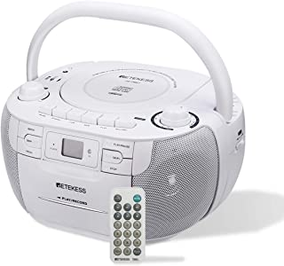 Retekess TR621 CD and Cassette Player Combo, Portable Boombox AM FM Radio, MP3 Player Stereo Sound with Remote Control, US...