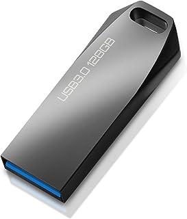 USBメモリ 128gb USB 3.0対応 フラッシュメモリ 128 GB 高速 フラッシュドライブ 金属製 防水 耐衝撃 128gb メモリースティック ノートパソコン/PC/自動車対応