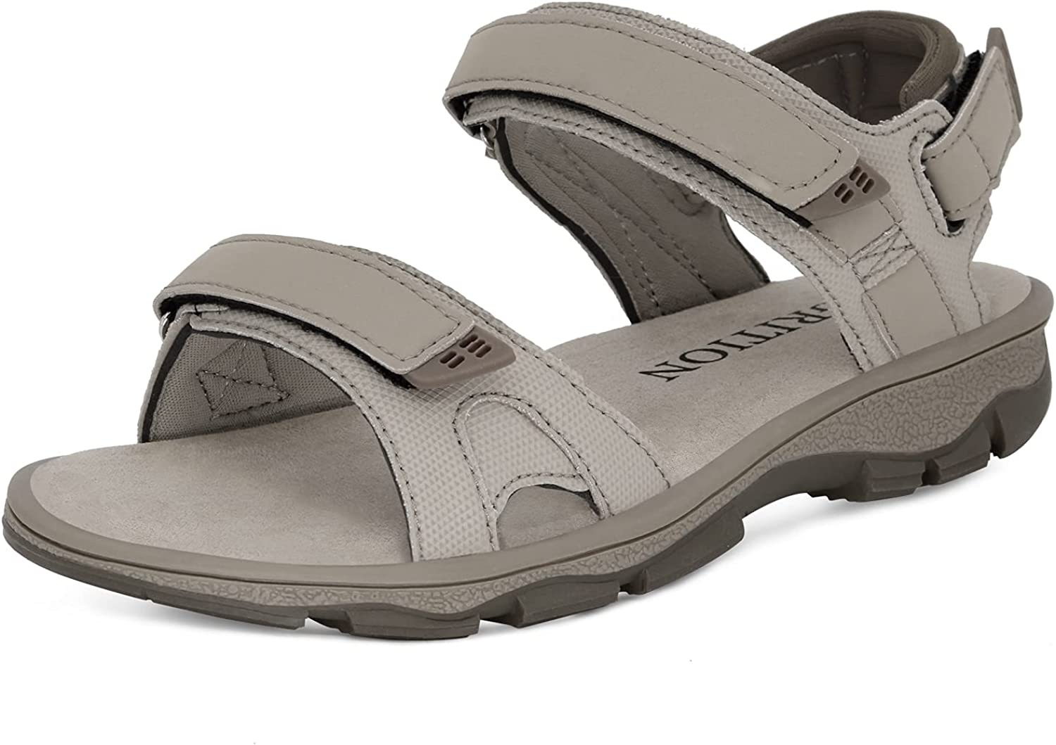 GRITION Hiking Sandals Women Comfortable, Closed Toe Lightweight Outdoor Athtletic Sports Sandals Adjustable Breathable Waterproof For Beach Summer.