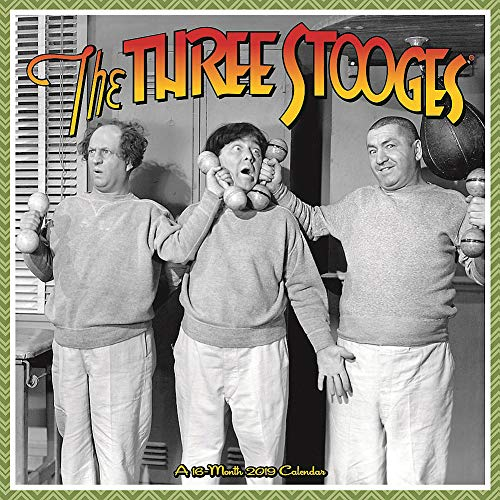 Three Stooges 2019 Wall Calendar, Classic TV by ACCO Brands