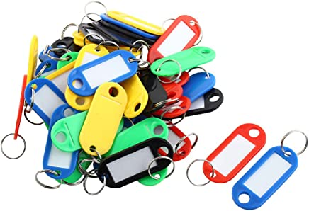50�St�ck sortiert Farbe Kunststoff Mitarbeiter Studenten Key Tag w Box