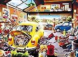 KUANGPT Scie sauteuse en bois - Magasin de pièces d'auto - Adulte Cartoon Cartoon Puzzle HD pour enfants jouet éducation décompression décoration-1000 pcs
