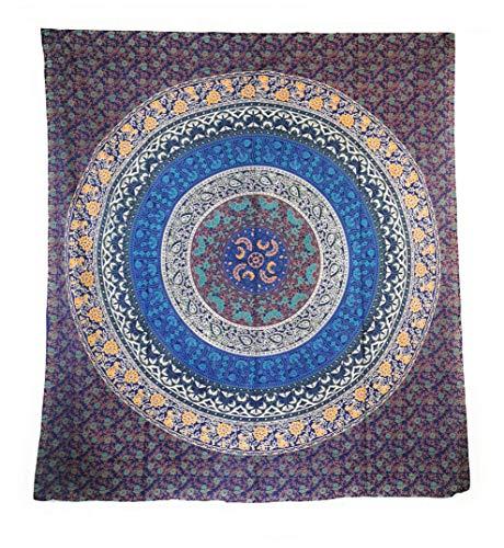Aga's Own Indische Mandala Tagesdecke, Wandtuch, Tagesdecke Mandala Druck - 100prozent Baumwolle, 210x240 cm, Bettüberwurf, Sofa Überwurf (Muster 11)