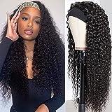 Best Brazilian Virgin Hairs - 28Inch Headband Human Hair Wigs Deep Wave None Review