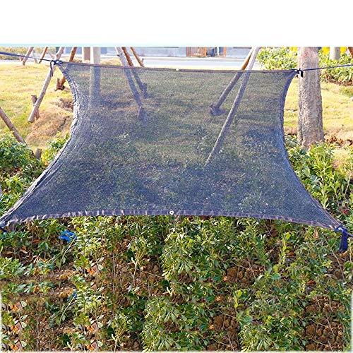 YS Paño de Protección Solar Multiusos para Exteriores, 75% de Bloqueador Solar con Ojales para Jardín, Patio, Negro,Negro,Los 5X6M