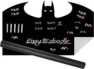 TESMAINS Creative Multi-Purpose Chalkboard Wall Sticker for Kids Room(Batman)