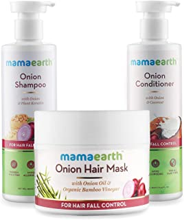 Mamaearth Ultimate Hair Fall Care Range, for Hair Fall Control, (Hair Mask 200ml + Shampoo 250ml + Conditioner 250ml)