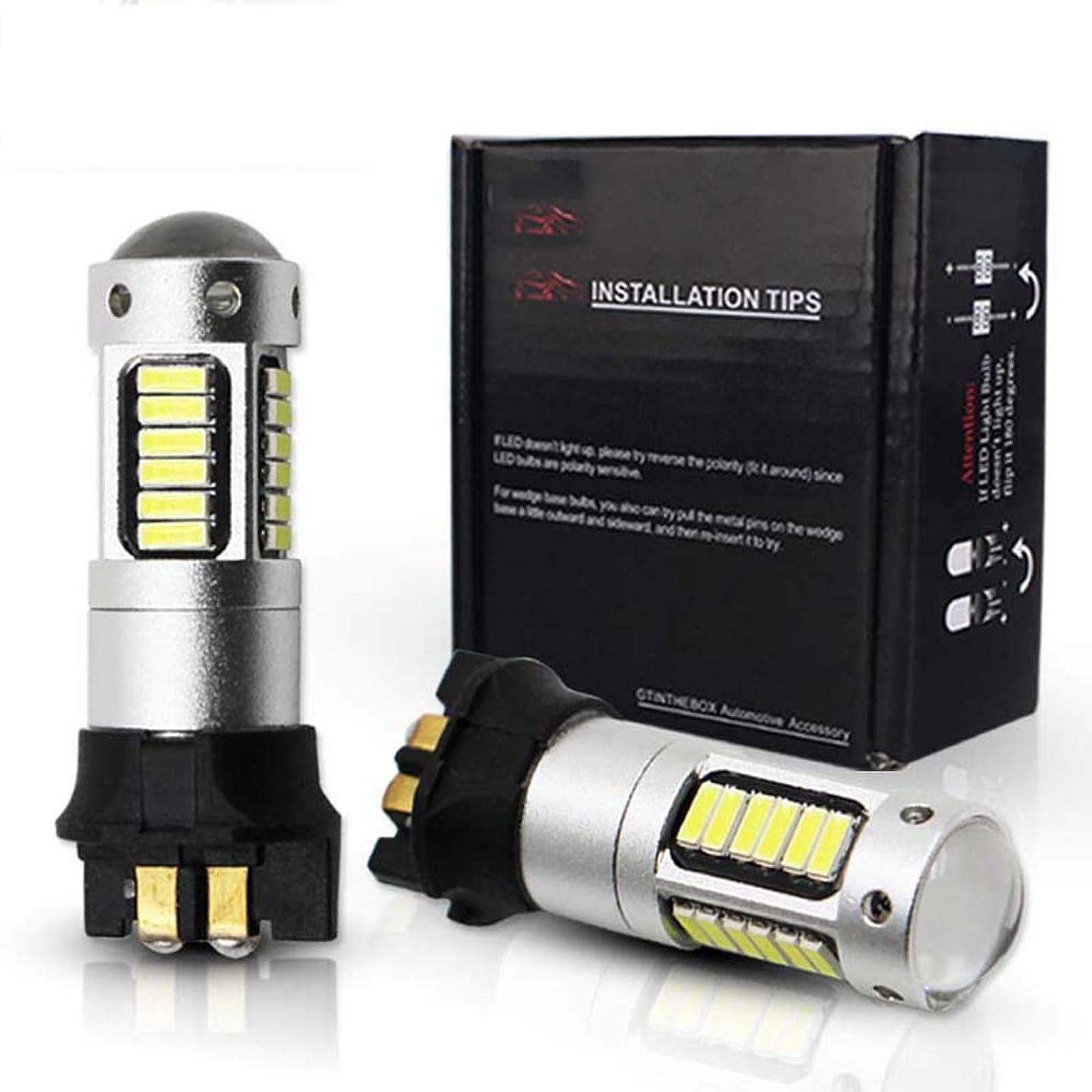 指令助けになるアラームCanbus OBC PW24W PWY24WアウディBMWフォルクスワーゲン方向指示灯の日または白黄色のためのLED電球