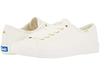 Keds x kate spade new york Kickstart Logo Foxing (White Canvas) Women