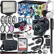 Canon EOS 80D DSLR Camera Premium Video Creator Kit w/ 18-135mm Lens + PZ-E1 Power Zoom Adapter + Sony Monitor Series Headphones + Video LED Light + 32gb Memory + Monopod + High End Accessory Bundle