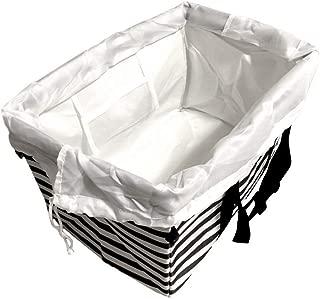 A-style エコバッグ レジかご 折りたたみタイプ 保冷はっ水素材使用 34L ビッグサイズ (ブラック)