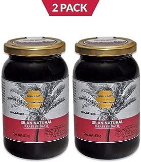 2 Pack Silan Natural, Jarabe de Datil, 2 frascos de 500 gr cada uno