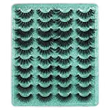 20 Pairs False Eyelashes 3D Faux Mink Lashes 5 Styles Mixed Long Thick Volume Fake Eyelashes ALPHONSE 18-20MM Cat Eye Fluffy Dramatic Lashes Pack