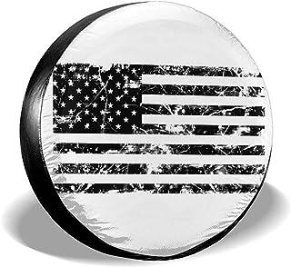 Hiram Cotton Spare Tire Cover Universel Antipoussi/ère Imperm/éable Universel De Couverture De Pneu De Roue De Secours G/éom/étrique pour Jeep,Remorque,RV,SUV Et Beaucoup De V/éhicule