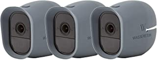 3 x Silicone Skins Compatible with Arlo Pro & Arlo Pro 2 Smart Security - 100% Wire-Free Cameras - by Wasserstein (with Su...
