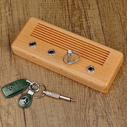 Soporte para llaves para decoración de pared, estilo vintage, amplificador de guitarra, gancho para llave con 4 llaveros y 1 kit de montaje en pared