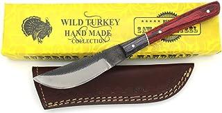 Wild Turkey Handmade Full Tang Real File Hunting Knife...