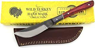 Wild Turkey Handmade Full Tang Real File Hunting Knife...