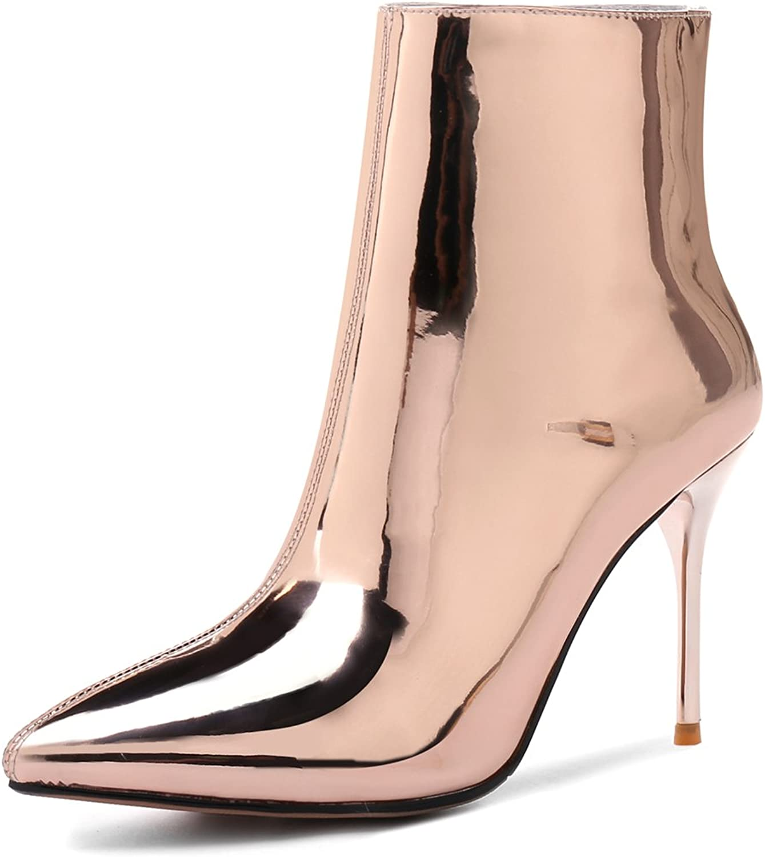 ANNIEschuhe Damen Damen Stiefeletten Lack Fashion Party Ankle Stiefel  beste Qualität