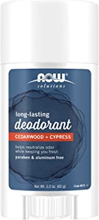 Now Foods Long Lasting Deodorant, Cedarwood + Cypress, 2.2 oz (62 g)