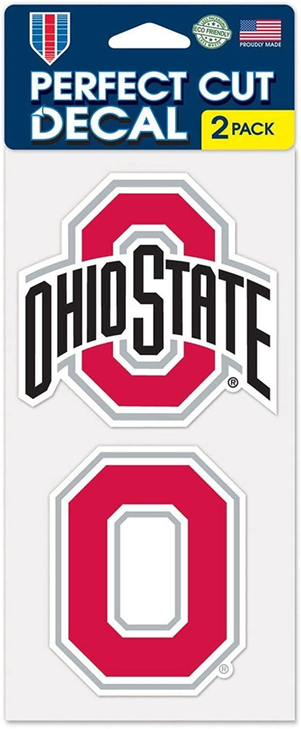 Ohio State Buckeyes Auto Decals 2 Pack - 4 by 4 Each