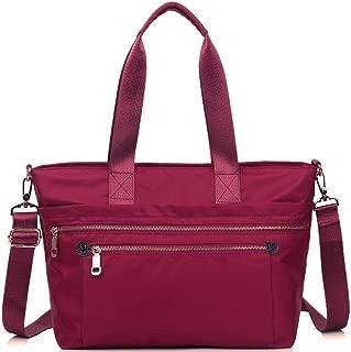 Handbags for Women iYAFFA Waterproof Purses and Handbags Nylon Multi-function Tote Bag Lightweight