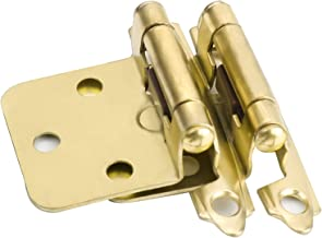 Haliwu 10 Pairs/Kitchen Cabinet Hinges, Overlay Hinges Soft Close Cabinet Hinge Gold Cabinet Door Hinges