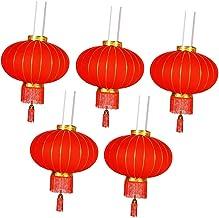 Serenable 5x Lanternas Chinesas Reunidas Decorações de Festa de Primavera Enfeite Da Sorte