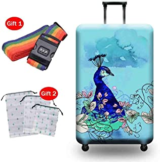 Suitcase Cover Polyester Spandex Thick Wear-Resistant Protective Cover Pull Bar Box 18-32 Inch Breathable Waterproof Dust ...