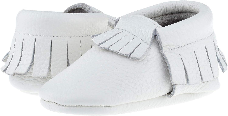 SAYOYO Baby Leather Infant Tassels Shoes Newborn Moccasins Soft Sole Girls Boys Toddler Prewalker Slippers