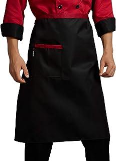MJL Waist Apron Short Waist Kitchen Apron Unisex Work Apron with Pocket for Kitchen Restaurant Servers Waitress #2