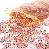 Luxury Rose Gold Diamond Table Confetti Party & Wedding Decorations: Includes Over 3,000 Acrylic Sparkling Scatter Gems in Three Sizes