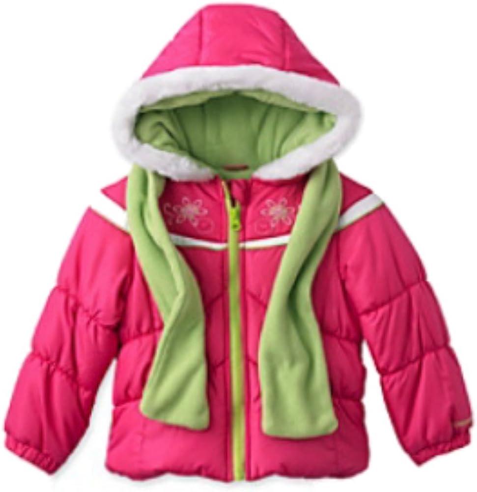 LONDON FOG Girls Pink Winter Coat & Scarf Ski Jacket Set Size 4