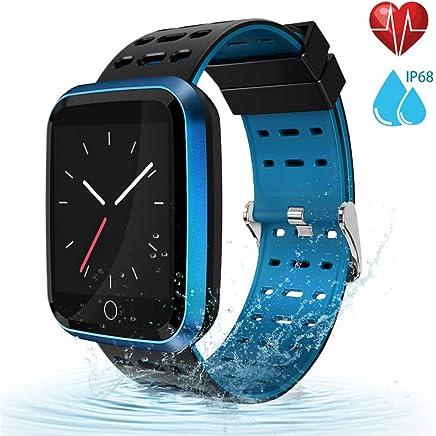 moreFit Fitness Tracker Smart Watch, IP68 Waterproof Fitness Watch Activity Tracker with Heart Rate Monitor, Wearable Smart Bracelet Sleep Monitor Step Counter Pedometer Watch for Men Women Kids