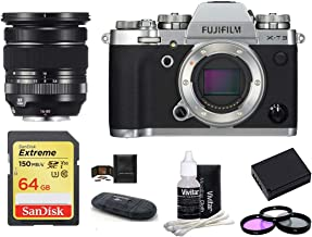 $1799 » FUJIFILM X-T3 Mirrorless Digital Camera Body with XF 16-80mm f/4 R OIS WR Lens Bundle, Includes: SanDisk 64GB Extreme SDXC Memory Card, Card Reader, Memory Card Wallet + More (8 Items) (Silver)
