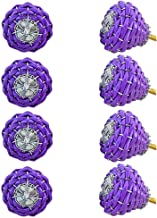 Indian-Shelf Handmade Aluminium Wire Cupboard Knobs Cabinet Pulls Kitchen Handles(Purple, 1.50 Inches)-Pack of 8