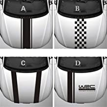 Stripe Car Covers Vinyl Racing Sports Decal Head Car Sticker For Ford Focus Cruze Renault Accesorios (Color Name : Rojo-C)
